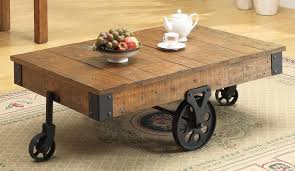 Rustic Coffee Table With Wheels Rustic Coffee Table With Wheels Montserrat Home Design