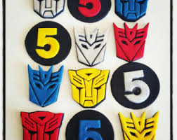 transformer cake toppers transformers party supplies transformers cupcake toppers