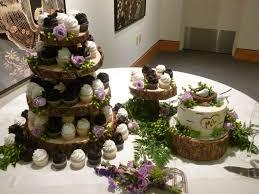 rustic wedding cupcakes rustic wedding with purple roses