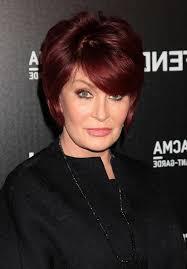 how to get sharon osbournes haircolor hairstyle for women over 60 sleek auburn bob haircut from sharon