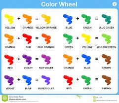 color wheel worksheet red blue yellow color for kids stock