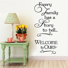 welcome to our home family quote wall decals decorative removable see larger image