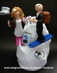 ski wedding cake toppers
