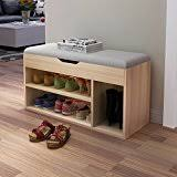 Wooden Storage Bench Amazon Com Wood Storage Benches Entryway Furniture Home