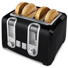 Toaster Glass Sides Black U0026 Decker Black 4 Slice Toaster Free Shipping On Orders