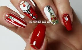christmas new years nails three nail art designs for holidays