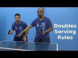 table tennis doubles rules doubles serving rules table tennis pingskills youtube