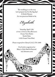 black shoes and zebra print invitation wedding invitation