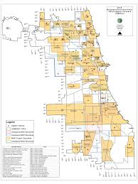 Chicago Area Code Map by