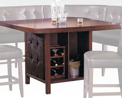 counter height pub table wood top counter height table bravo by acme ac07250