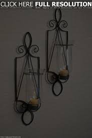 Wall Candle Sconces With Glass Candle Wrought Iron Wall Sconces With Glass Decorative And Wrought