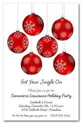 Christmas Ornament Party Invitations - ornaments holiday invitations christmas ornaments party invitations