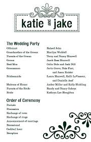 Sample Wedding Programs Outline Wedding Agenda Sample Thematic Wedding Itinerary Template For
