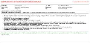 Chief Marketing Officer Resume Doc 638479 Chief Marketing Officer Job Description U2013 Chief