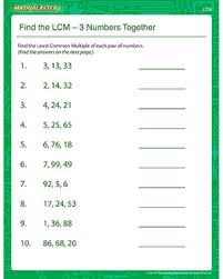 lcm gcf worksheet free worksheets library download and print