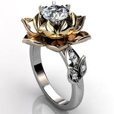 lotus flower engagement ring leaf and vine ring ideas collections