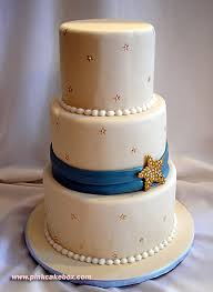 star themed wedding cake summer wedding cakes