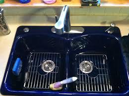 Blue Kitchen Sinks Kohler Cobalt Blue Kitchen Sink The Racks Inside They