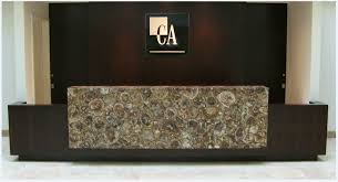 Granite Reception Desk Build A Brand With Caesarstone Marble U0026 Granite