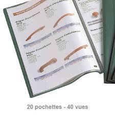 fourniture de bureau fiducial protège documents fiducial a4 20 poches vert fournitures de bureau