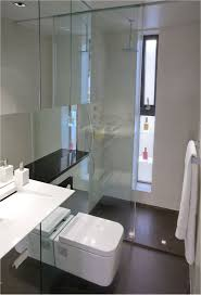 small apartment bathroom decorating ideas stainless steel pull handle beige ceramic floor tiled small