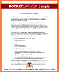 5 sample confidentiality agreement template purchase agreement