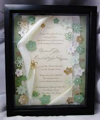 Wedding Wishes Keepsake Shadow Box Wedding Invitation Keepsake Art Shadow By Forevercherishdesign
