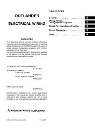 2006 mitsubishi outlander electrical wiring diagram pdf manual