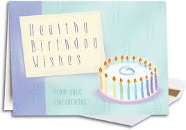 healthy birthday wishes chiro folding card smartpractice