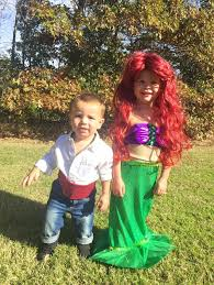 Ariel Mermaid Halloween Costume Disney Mermaid Sibling Halloween Costume Prince Eric