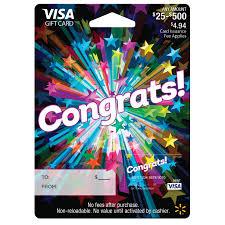 gift cards with no fees congrats walmart visa gift card walmart