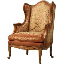 c 1900 needlepoint louis xv wing back chair at 1stdibs