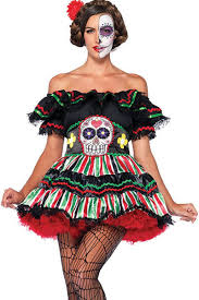 day of the dead costume sugar skull costume 3wishes com
