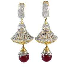 artificial earrings online buy indian artificial mettalic jhumka earrings online at low