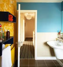bathroom stunning black and yellow bathroom decoration using round