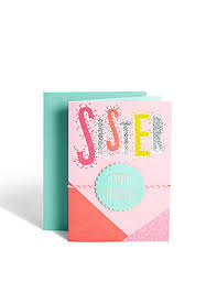 birthday cards for her family for sister mum aunt daughter m u0026s