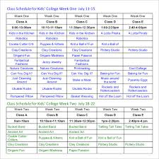 semester schedule template cris lyfeline co