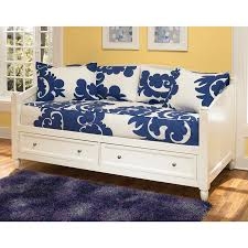 Sofa Bed With Storage Drawer Shop Home Styles Naples White Twin Daybed With Storage At Lowes Com