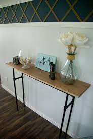 Wood Sofa Table Design How To Build A Rustic Table Using Galvanized Pipes