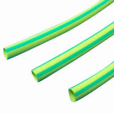 yellow green heat shrink tubes with 2 1 or 3 1 ratio and wire