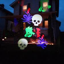 halloween laser light show digital decorations projector kit with bone chillers dvd windowfx