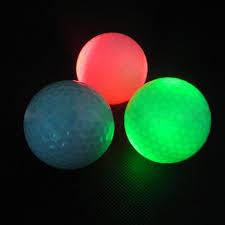 light up golf balls 1pc led golf ball flashing light up glow night training golf