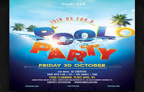 pool party flyer template foam party flyer free club party psd