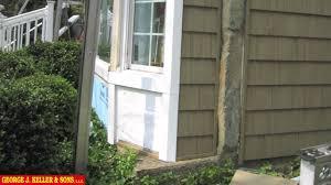 bay window re siding with vinyl cedar shake siding youtube