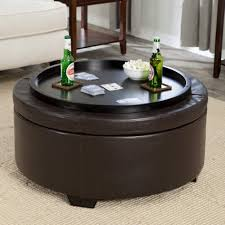 coffee table black round ottoman coffee table home decorations