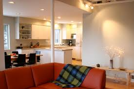 cute living room and kitchen with additional home interior design