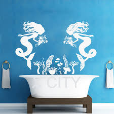 mermaid decorations for home mermaid wall decals home design
