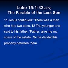 luke 15 1 32 niv the parable of the lost sheep ppt video