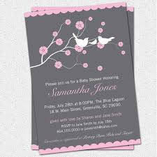 baby shower invitations for girls wording ebb onlinecom