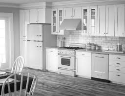 Kitchen With White Appliances by Kitchen Modern White Kitchens With Dark Wood Floors Fireplace